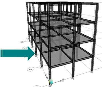 شکل 4 تعیین مقاومت طبقه در قاب خمشی فولادی و در محیط ETABS.