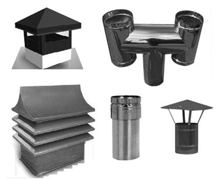 چند نمونه کلاهک مورد استفاده روی دودکش