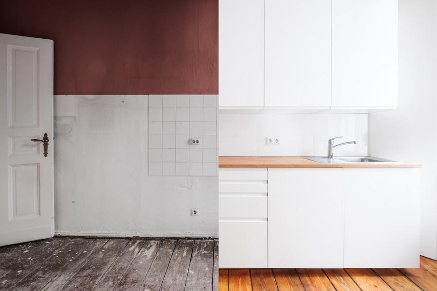 قبل و بعد بازسازی یک خانه