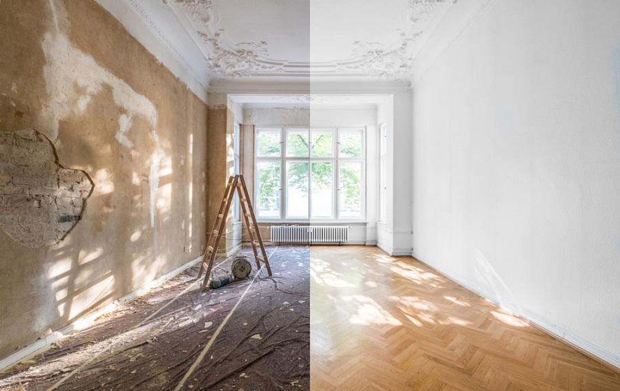 بازسازی دیوار منزل