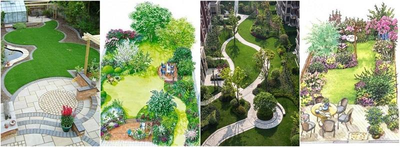 نمونه های طراحی و اجرای فضای سبز