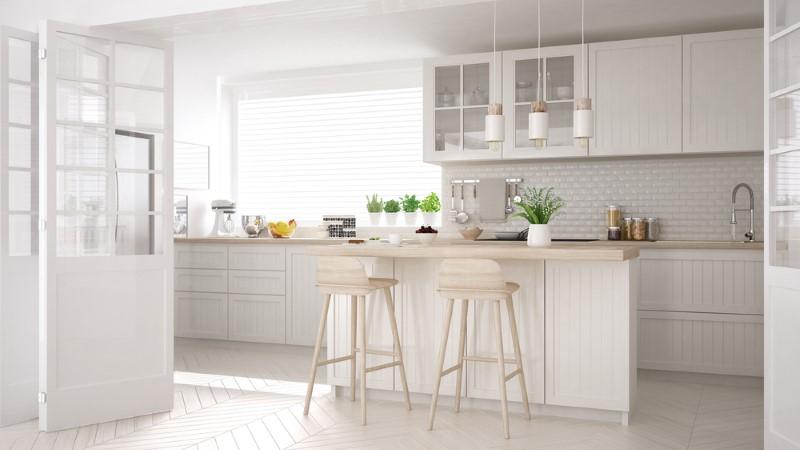 جنس کابینت سفید آشپزخانه چیست؟