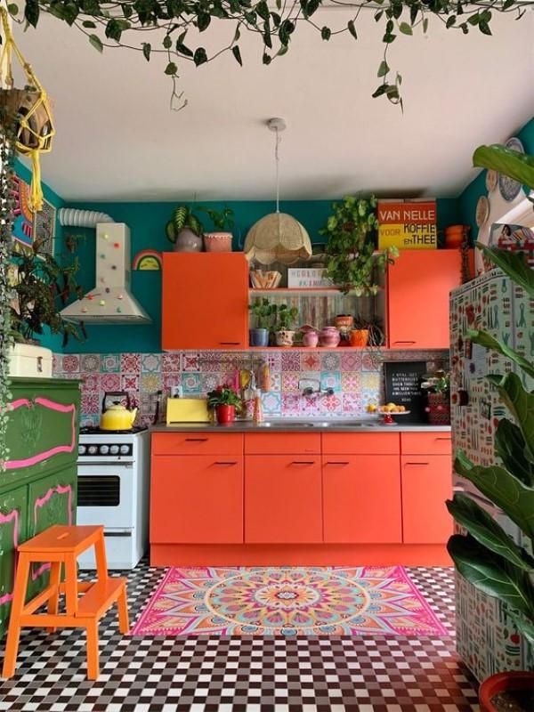 دکوراسیون بهاری آشپزخانه
